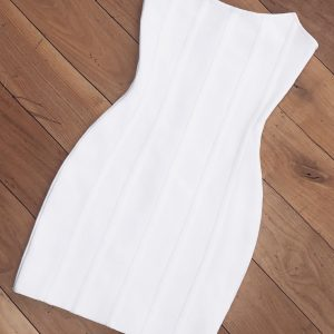 Robe Bandage Blanche Bustier