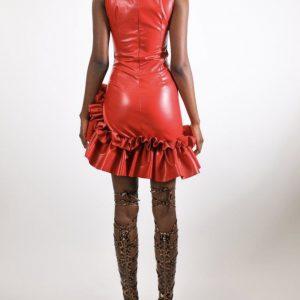 Robe similicuir Scarlet