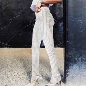 Pantalon à rayure