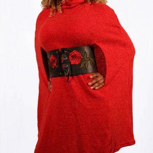 Robe Pull duveteuse avec col cheminée